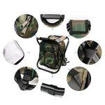 Chaise pliante de refroidisseur de sac à dos - tabouret portatif de camping avec le sac isolé de pique-nique - sac de Tableau de Seat de camouflage Équipement de camping pour le voyage extérieur, la randonnée, la pêche, la plage, le BBQ, la maison et la s image 4 produit