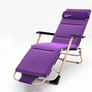 Chaises longues réglables/chaise pliante portative/chaise de plage d'été/chaise de déjeuner de bureau/chaise de balcon/chaises longues de jardin/appui-tête amovible/tapis démontable de la marque Fauteuil image 0 produit