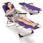 Chaises longues réglables/chaise pliante portative/chaise de plage d'été/chaise de déjeuner de bureau/chaise de balcon/chaises longues de jardin/appui-tête amovible/tapis démontable de la marque Fauteuil image 1 produit