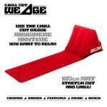 CKB Ltd® Le Chill Out Rouge (Red) Portable Voyage gonflable Chaise longue avec Wedge Forme Retour Coussin - Parfait pour le camping, pique-nique, plage, festivals, télévision (Red) de la marque CKB Ltd image 2 produit