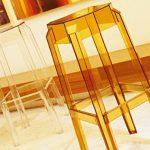 CLP Tabouret de bar FOX en Plastique Résistant, Tabouret de Comptoir Stable et très léger (2 kg), Hauteur siège: 75 cm, Chaise haute pour comptoir, Tabouret de bar en plastique, Chaise haute Empilable transparent de la marque CLP image 2 produit