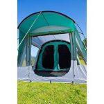 Coleman Tente Oak Canyon 4, grande tente de camping avec 2 chambres, toile de tente 4 personnes avec Technologie BlackOut Bedroom, tente familiale 4 places, tente tunnel, 100% imperméable de la marque Coleman image 4 produit