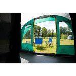 Coleman Tente Rocky Mountain 5 Plus, grande tente de camping avec 2 chambres, toile de tente 5 personnes avec Technologie BlackOut Bedroom, tente familiale 5 places, tente tunnel avec auvent de la marque Coleman image 5 produit