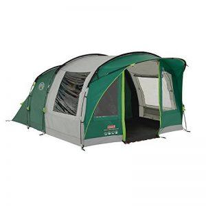 Coleman Tente Rocky Mountain 5 Plus, grande tente de camping avec 2 chambres, toile de tente 5 personnes avec Technologie BlackOut Bedroom, tente familiale 5 places, tente tunnel avec auvent de la marque Coleman image 0 produit