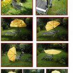 Compartiments soleil parapluie rouge + Chaise pliante en aluminium + oreiller amovibles–Holly de Sunshade® –. de la marque Holly Set image 3 produit