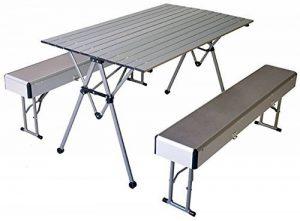 connex Warenhandel Table pliante avec 2bancs Aluminium Chaise de camping de la marque connex Warenhandel image 0 produit