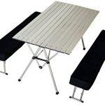 connex Warenhandel Table pliante avec 2bancs Aluminium Chaise de camping de la marque connex Warenhandel image 1 produit