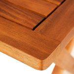 Deuba Table d'appoint pliable en bois d'acacia, table pour camping jardin 70x70x73cm de la marque Deuba image 1 produit