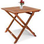Deuba Table d'appoint pliable en bois d'acacia, table pour camping jardin 70x70x73cm de la marque Deuba image 3 produit