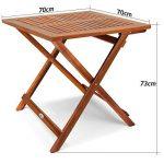 Deuba Table d'appoint pliable en bois d'acacia, table pour camping jardin 70x70x73cm de la marque Deuba image 4 produit