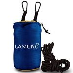 Double 2 Personnes Hamac , 500KG de très grande capacité(320 x 200 cm) Camping Portable dans un sac utilisé pour la randonnée, jardin, léger, séchage rapide sangles d'arbres hamac, mousquetons, ancres et corde de la marque LAMURO image 1 produit