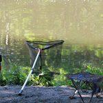 Eighteen-u Petite Chaise pliante, portable, léger et étanche 600d Oxford extérieur Chaise pliante pour camping pêche randonnée pique-nique de plage pliable rapidement Chaise Tabouret de la marque Eighteen-U image 2 produit