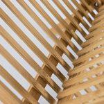Elbmöbel Egouttoir Étagère en bois de bambou 29x 33x 28cm–Parfaite vaisselle pliable pour le petit déjeuner assiettes (Petit) et tasses–Égouttoir et de Panier à vaisselle en bois, nature de la marque elbmoebel image 4 produit