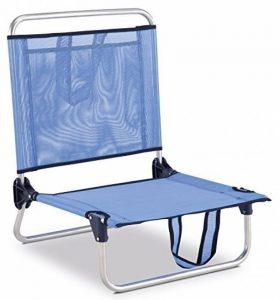 Eredu 835/TXB Chaise de Plage avec Pochette et Poignée Bleu Uni 54 x 50 x 63 cm de la marque Eredu image 0 produit