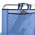 Eredu 835/TXB Chaise de Plage avec Pochette et Poignée Bleu Uni 54 x 50 x 63 cm de la marque Eredu image 1 produit