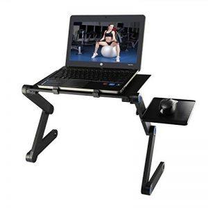 Etpark Table de Lit Pliable, Aluminium Réglable Ordinateur Tablette pour PC Support Pliant avec Tapis de souris (Noir) de la marque Etpark image 0 produit