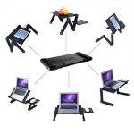 Etpark Table de Lit Pliable, Aluminium Réglable Ordinateur Tablette pour PC Support Pliant avec Tapis de souris (Noir) de la marque Etpark image 1 produit