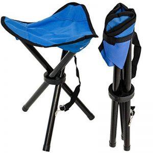 Eyepower Tabouret Pliant pour camping pêche randonnée pique-nique Siege trépied facile à transporter Bleu de la marque Eyepower image 0 produit