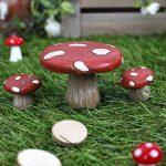 Fairy Garden, ensemble table et chaises Toadstool Picnic Set de la marque Jones Home and Gift image 2 produit