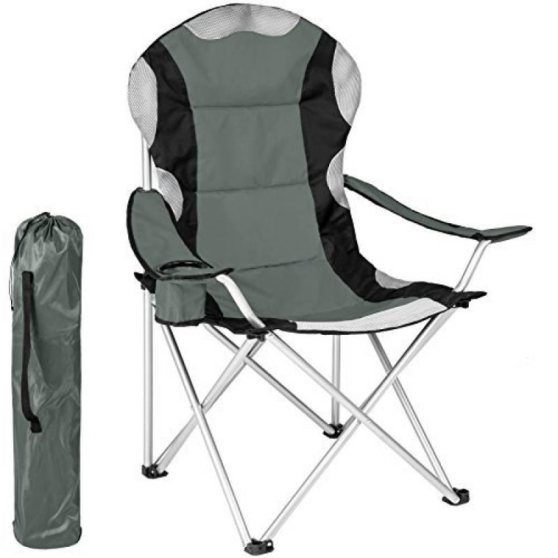 TecTake Chaise De Camping Fauteuil Pliable Avec Porte Boisson Et Sac Transport