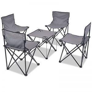 Festnight 5 pcs Mobilier de Camping Pliant 1 Table + 4 Chaise de Camping en Acier de la marque Festnight image 0 produit