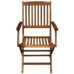 Festnight 5 pcs Salon de Jardin 1 Table et 4 Chaise Pliable en Bois d'acacia de la marque Festnight image 4 produit