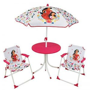 FUN HOUSE 712826 DISNEY ELENA D' AVALOR Salon de Jardin pour Enfant avec 1 table, 2 chaises et 1 parasol de la marque FUN HOUSE image 0 produit