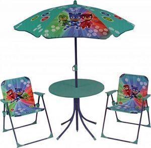 FUN HOUSE 712851 PYJAMASQUES Salon de Jardin pour Enfant avec 1 table, 2 chaises et 1 parasol de la marque FUN HOUSE image 0 produit