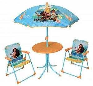 FUN HOUSE 713003 DISNEY VAIANA Salon de Jardin pour Enfant avec table, 2 chaises et 1 parasol de la marque FUN HOUSE image 0 produit