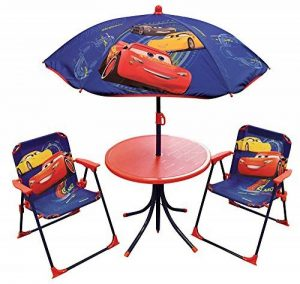 FUN HOUSE DISNEY CARS Salon de jardin pour enfant comprenant 1 Table, 2 Chaises pliables et 1 Parasol de la marque FUN HOUSE image 0 produit