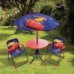 FUN HOUSE DISNEY CARS Salon de jardin pour enfant comprenant 1 Table, 2 Chaises pliables et 1 Parasol de la marque FUN HOUSE image 1 produit