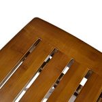 Geboor Tabouret de bambou portable Tabouret d'étape imperméable pour la douche Tabouret de pliage de pied pour la pêche de pique-nique Marron foncé de la marque Geboor image 4 produit