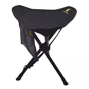 GEERTOP Chaise Trépied Pliable et Mobile Portable Pliante Légère en Acier avec Poche pour Camping Pêche Randonnée Pique-nique de la marque Geertop image 0 produit