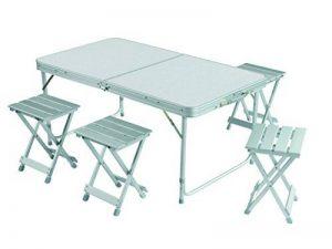 Grand Canyon Alu Table Set - avectabourets inclus, pliable, aluminium, argent, différentes tailles de la marque Grand Canyon image 0 produit