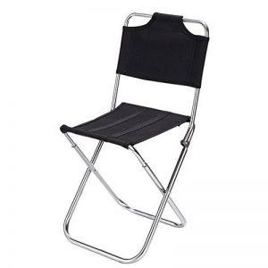 GULUDED Chaise pliante concave convexe multifonctions pliant tabouret chaise de pêche en alliage d'aluminium avec dossier de la marque GULUDED image 0 produit