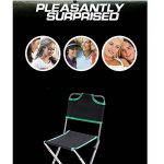 GULUDED Chaise pliante concave convexe multifonctions pliant tabouret chaise de pêche en alliage d'aluminium avec dossier de la marque GULUDED image 1 produit
