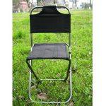 GULUDED Chaise pliante concave convexe multifonctions pliant tabouret chaise de pêche en alliage d'aluminium avec dossier de la marque GULUDED image 4 produit