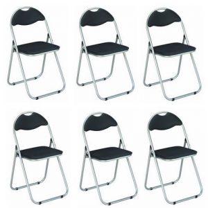 Haku Möbel 44704 Lot de 6 Chaises Pliantes Métal Aluminium/Noir de la marque Haku Möbel image 0 produit
