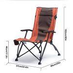 HM&DX Chaises De Camping Pliantes Extérieures Pour Personnes Fortes Confort Accoudoir Highback Porte-gobelet Portable Heavy Duty Chaise De Plage Pliante de la marque HM&DX image 4 produit