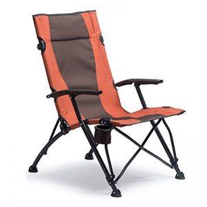 HM&DX Chaises De Camping Pliantes Extérieures Pour Personnes Fortes Confort Accoudoir Highback Porte-gobelet Portable Heavy Duty Chaise De Plage Pliante de la marque HM&DX image 0 produit