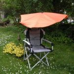 Holly Plage Lot de compartiments Parapluie – Orange + Chaise de plage – en aluminium – Stabielo Wellness – Chaise pliante – Fauteuil à dossier haut – Couleur Gris/Noir avec charge maximale 120 kg et amovibles kopk-4,25 seul Kilo facile pour matelas Innova image 1 produit