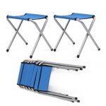 HOMFA Table de Camping Portable Table Buffet Traiteur Pliante en Hauteur Réglable Table de Pique-nique (1.8M (Avec 6 Chaises), Bleu) de la marque Homfa image 3 produit