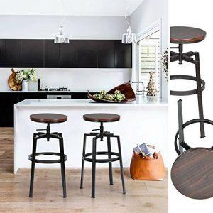 Innovareds® Ensemble de 2 tabourets de bar industriel en métal style vintage en bois réglable en hauteur pivotant de la marque innovareds-uk image 0 produit
