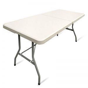 JOM 127130Table pliante Table de jardin Couleur Crème/clair avec poignée, 183x 75x 74cm, blanc de la marque JOM image 0 produit