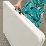 JOM 127130Table pliante Table de jardin Couleur Crème/clair avec poignée, 183x 75x 74cm, blanc de la marque JOM image 1 produit