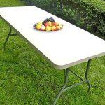 JOM 127130Table pliante Table de jardin Couleur Crème/clair avec poignée, 183x 75x 74cm, blanc de la marque JOM image 2 produit