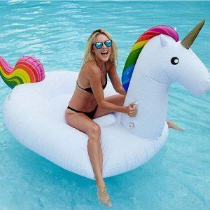 Jouet de licorne gonflable géant - Lit flottant de piscine - Chaise de récréation générale et pour adultes et enfant de la marque Dracarys image 0 produit