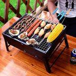 JTDEAL Barbecue Portable, Petit BBQ à Charbon Pliable en Acier Inoxydable BBQ Grill Portable de Table avec 4 Volets d'aération Extérieur pour Camping et Pique Nique Jardin(3-5 Personnes) de la marque JTDEAL image 4 produit