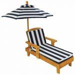 KidKraft - Chaise longue avec parasol - Bleu marine de la marque KidKraft image 1 produit