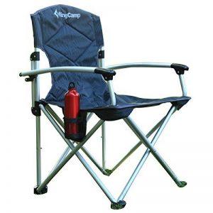KingCamp Deluxe léger Super confortable Alluminium fauteuil pour la pêche de pique-nique Camping plein air plage - Gris - Taille: L de la marque KingCamp image 0 produit